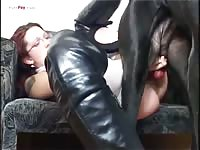Hot Babe Likes The Dog Cock