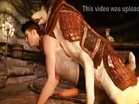Nice 3d Gaybeast - Animal Sex Video