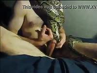 White Dude Fucking A Snake