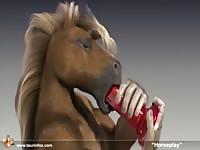 Animated horse gaybeast com [ Animal Woman ]