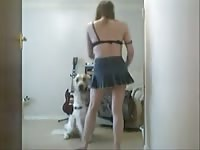 Daily dog sex with Shylark and her pet