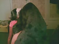 Her dog humps then fucks her