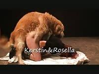 Horny woman having sex in dog porn movie